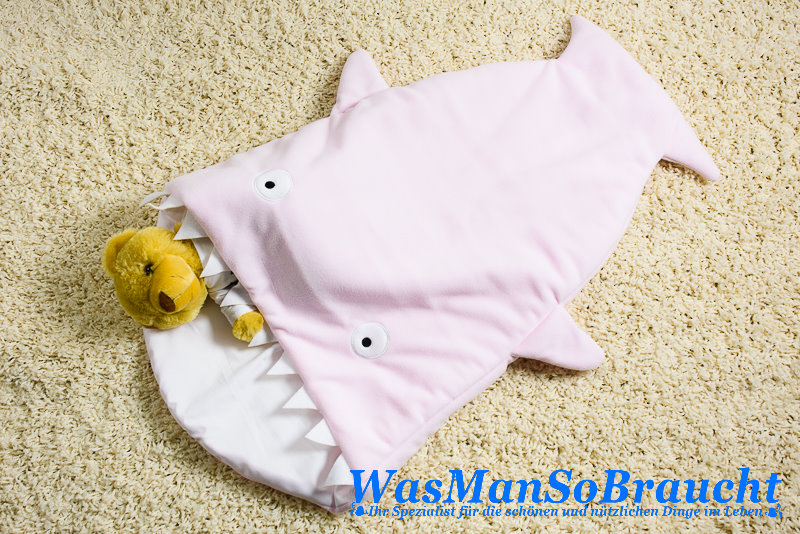 baby schlafsack fu sack hai fisch rosa kuscheldecke polar fleece atmungsaktiv ebay. Black Bedroom Furniture Sets. Home Design Ideas