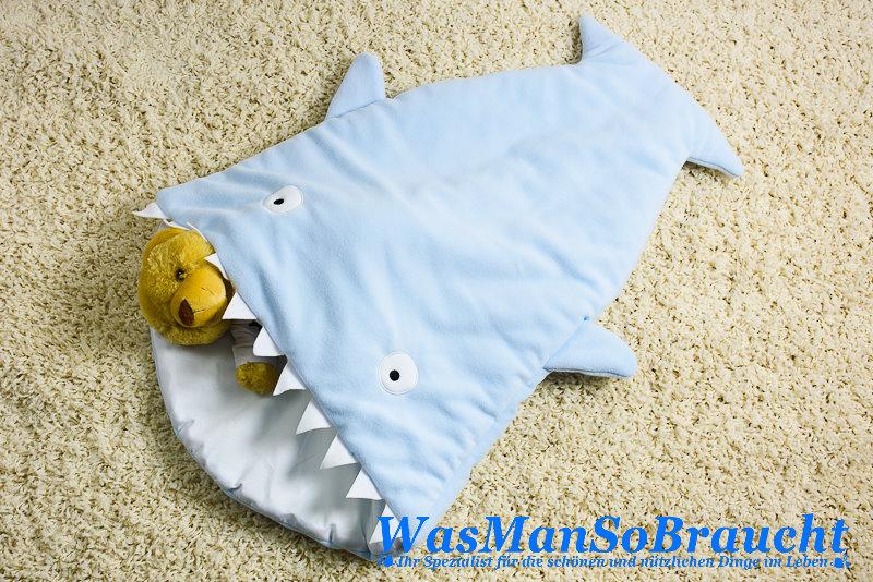 Baby Schlafsack Fußsack HAI Fisch ROSA Kuscheldecke Polar Fleece Atmungsaktiv